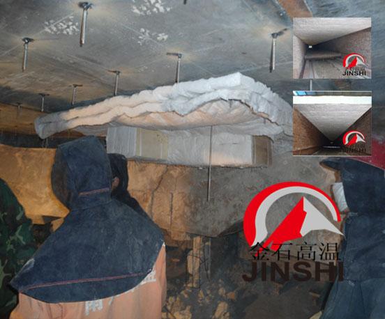 隧道窑烧砖隧道窑新型吊顶纤维棉块施工质保