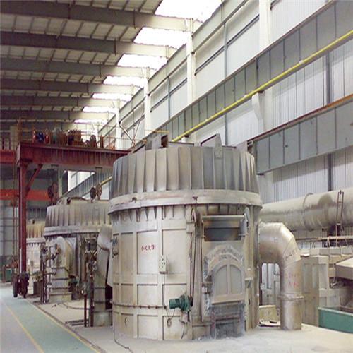 节能45吨燃气启盖熔铝炉