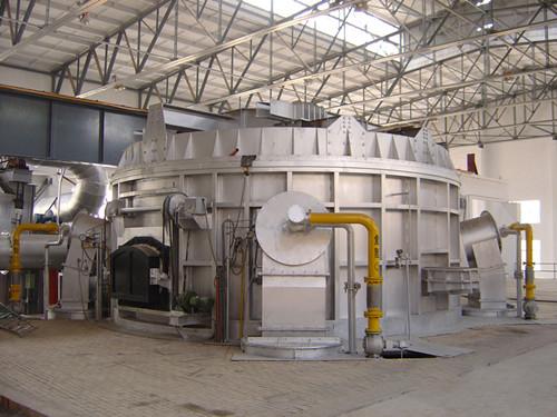 固定式圆形金属熔炼炉 燃气启盖熔铝炉