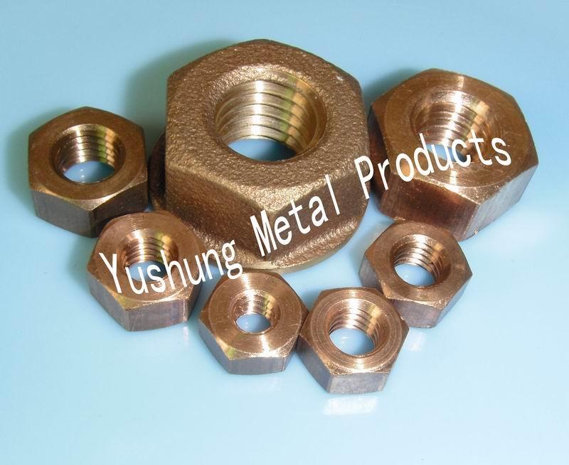 硅青铜螺母,铝青铜螺母,磷青铜螺母
