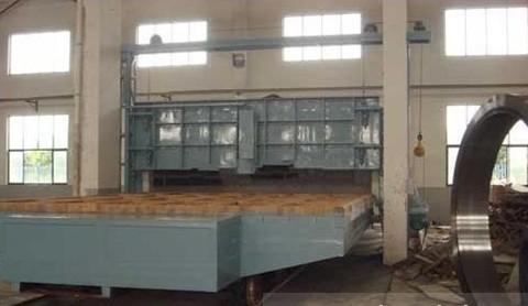 法兰环件台车炉